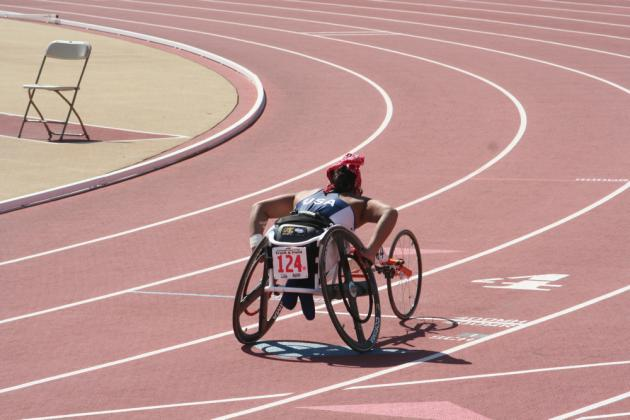 Racing at US Paralympic Trials