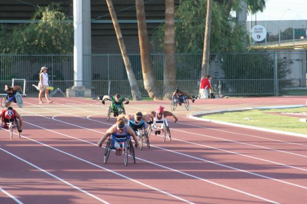 Anjali racing at US Paralympic Trials at ASU