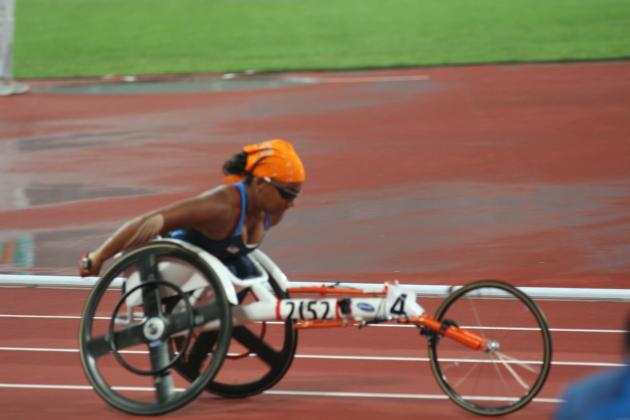 Anjali racing in 200m Beijing