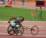 Racing at the Beijing Paralympic Games