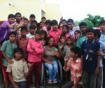 Anjali visiting school for the Deaf in Udaipur, Rajathstan